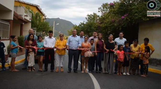 REHABILITAN LAS CALLES VICENTE GUERRERO, SIMÓN MONTEMAYOR Y MÉXICO EN SANTIAGO N.L.