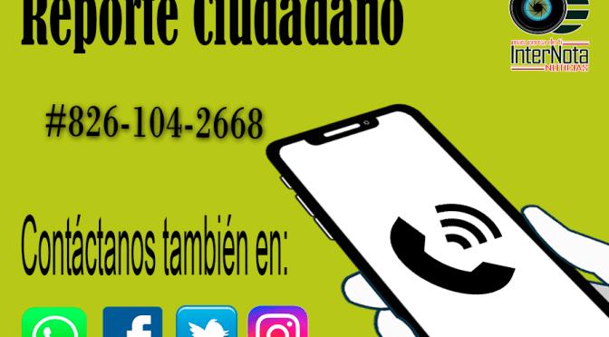 #REPORTECIUDADANO.
