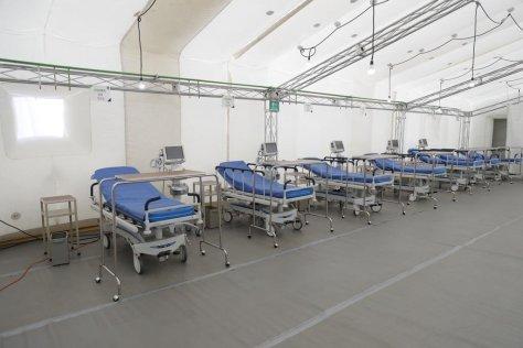 COLOCAN EL PRIMER HOSPITAL INFLABLE EN MÉXICO PARA COMBATIR LA PANDEMIA.