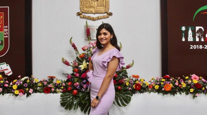 REINA DE LA FERIA DEL AZAHAR 2020-2021, LA SRITA. MARTHA ISELA OVALLE RAMÍREZ.