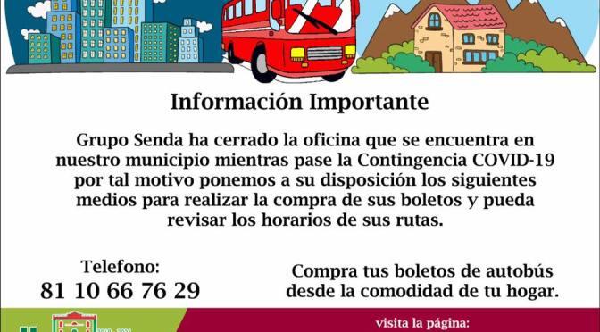 OFICINAS DE SENDA CIERRAN EN EL MUNICIPIO DE HUALAHUISES, N.L.