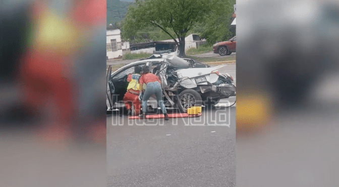 FUERTE ACCIDENTE VIAL SE REGISTRA EN SANTIAGO N.L.