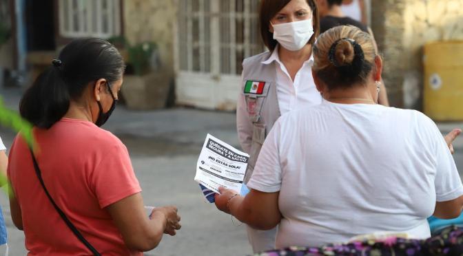 RECORRE CRISTINA DÍAZ SECTORES CON MÁS ÍNDICES DE VIOLENCIA FAMILIAR EN GUADALUPE N.L.
