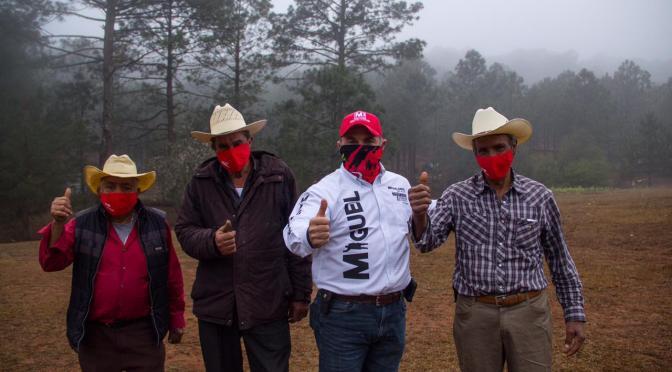 RECORRE MIGUEL SALAZAR COLONIA LOS SABINOS Y COMUNIDAD LA TRINIDAD EN MONTEMORELOS NL.