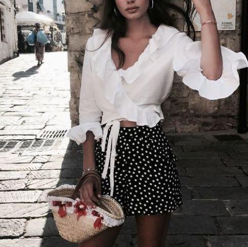 9. Polka Dot Mini Skirt