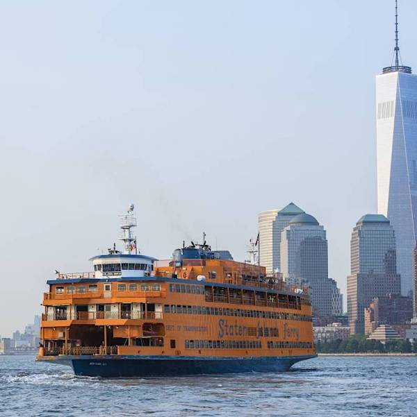 The Staten Island ferry on the go