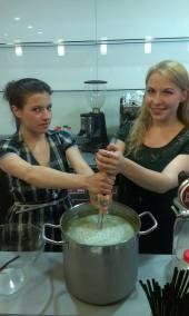 Melon team building. Victoria on the right