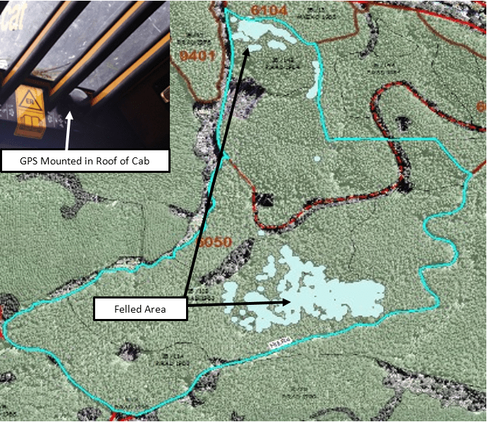 Interpine and SATCO Implementing Feller-buncher GPS Tracking of Harvest Progress