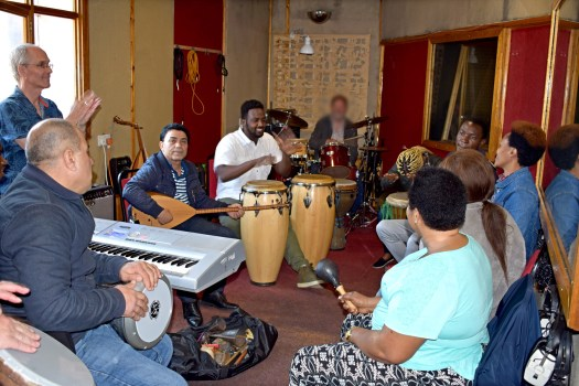Interplay Collective early rehearsal - global local music