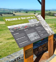 War History Signs, Cowra POW Camp