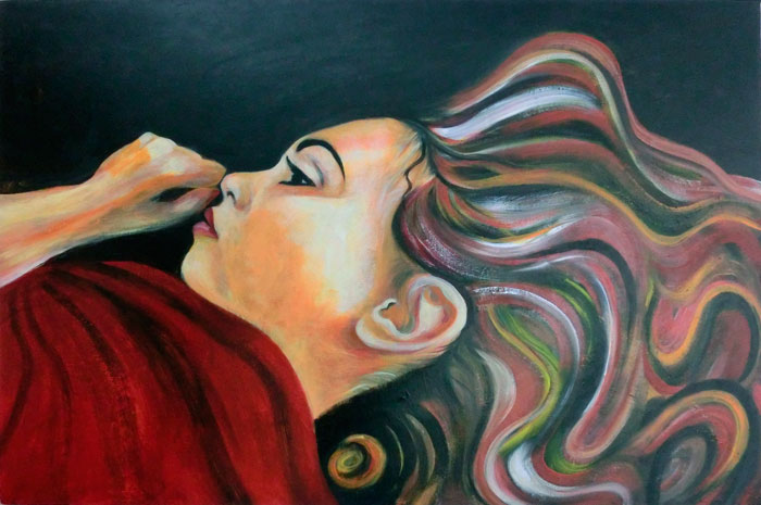 Painting of Kate by Dee Rogers