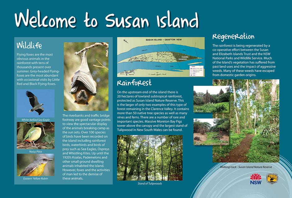 Susan Island Aboriginal Signage