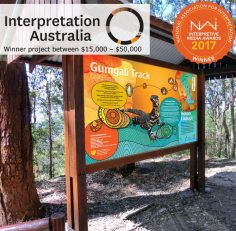 Interpretive visitor experience, Gumgali Track, Korora Lookout