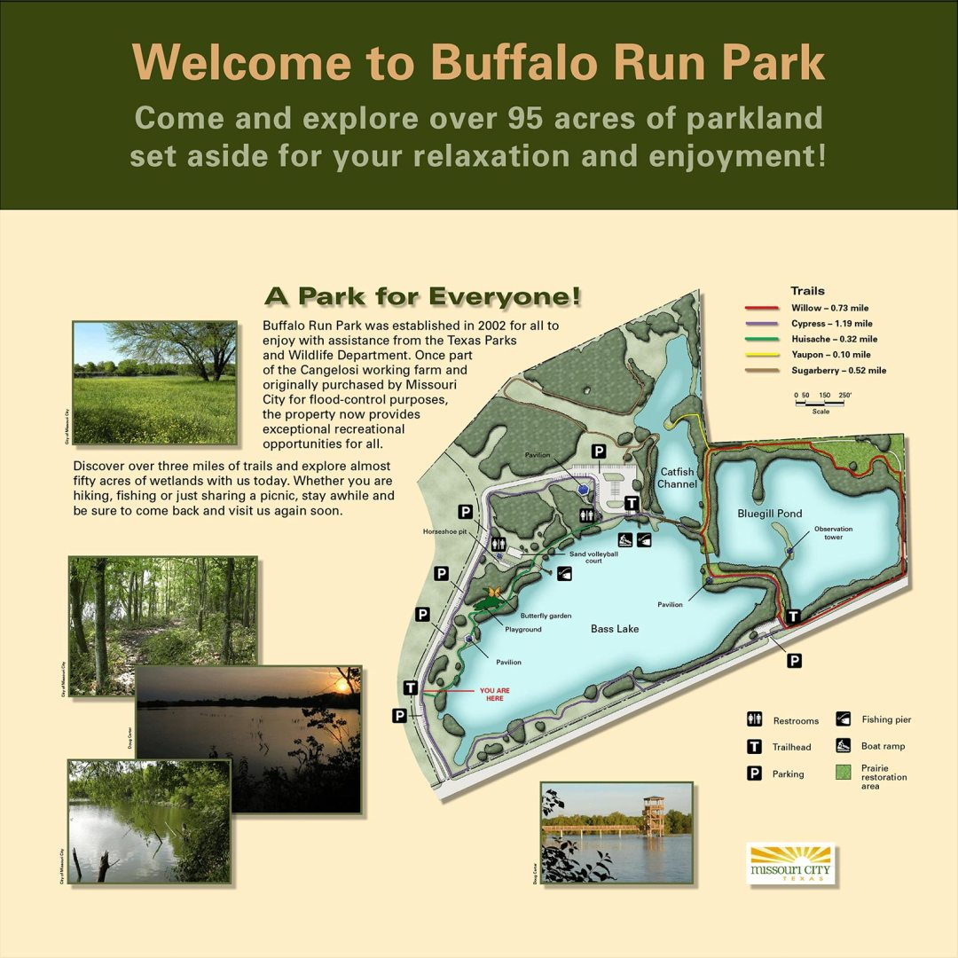 Buffalo run park orientation map