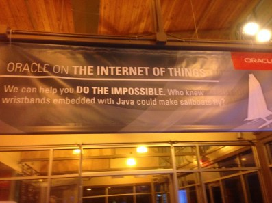 The Oracle party at SXSW - IoT banner