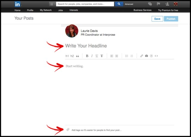 LinkedIn Pulse Editor