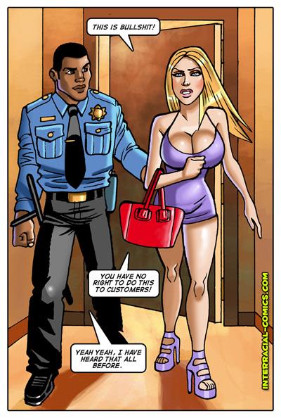 Blonde Girl Interracial Comic