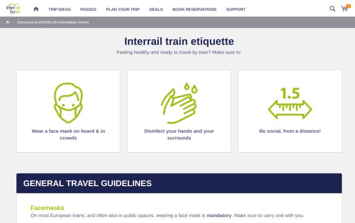 Interrail.eu's Coronavirus Information Centre