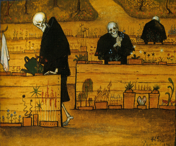"Quadro ""The Garden of Death"", do artista nórdico Hugo Simberg"