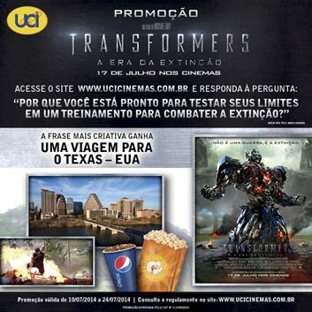 Imagem UCI - promoção Transformers