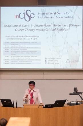 Professor Scherer introduces Professor Naomi Goldenberg