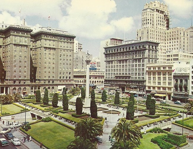 Union Square_Postcard 1960s1