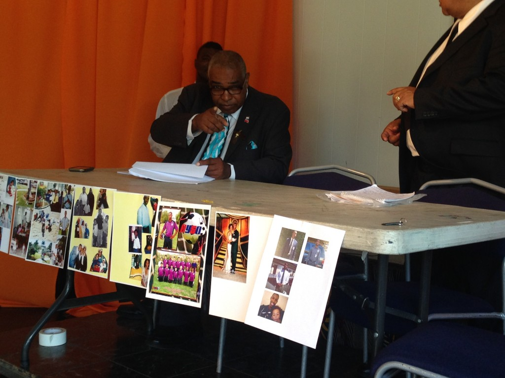 James Spencer at a press conference in Leimert Park | Camille Requiestas