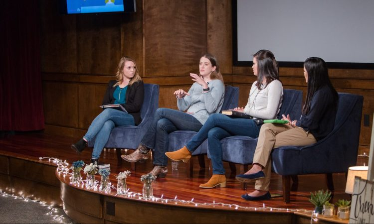 Amber Bowen, Amy Whitfield, Laura Thigpen and Betsy Gomez talk about social media