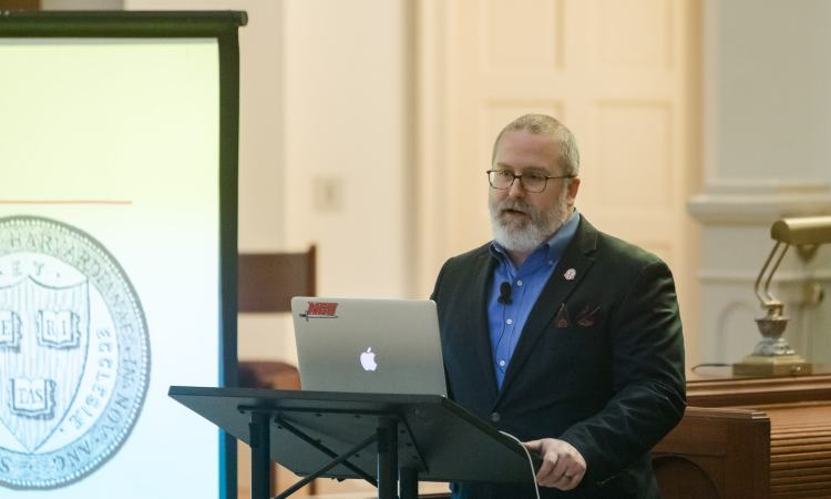 Nathan Finn at Science and the Christian Faith Conference at SEBTS (credit: Rebecca Hankins)