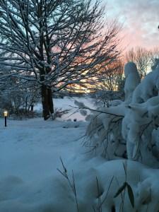 Sonnenuntergang Schnee