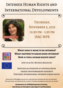 """Intersex Human Rights and International Developments"" by Dr Michela Balocchi"