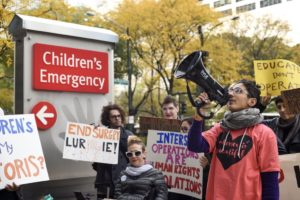 Lurie Children's Hospital protest