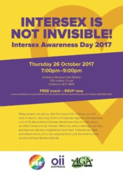 Intersex is not invisible!