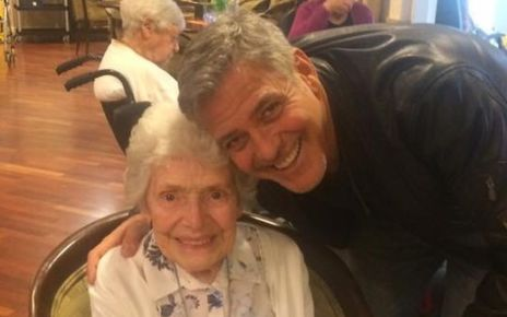 95243824 george - George Clooney surprises 87-year-old fan with birthday flowers