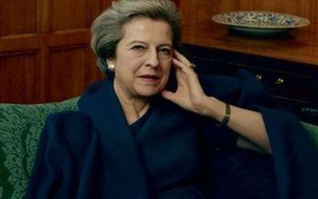 95244020 mayatchequers - Theresa May tells Vogue about 'gentleman' Donald Trump