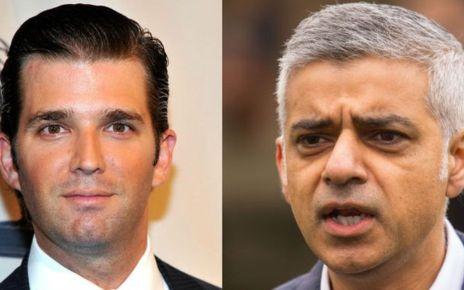 95278838 trump khan compo - Donald Trump Jr criticises London mayor after terror attack