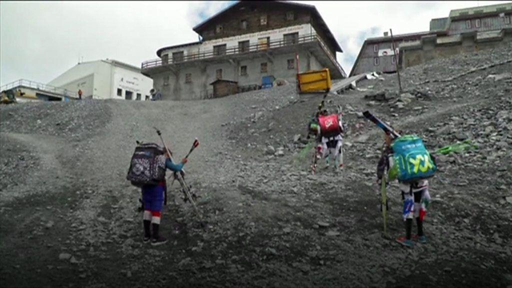 97276199 p05bz8p9 - Heatwave in Italy closes summer ski resort