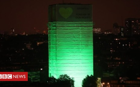 102012534 1ae8813b 9129 4c9c 964d b27e3a86f246 - Grenfell Tower lit green a year after fire