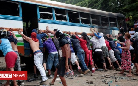 102033669 047448316 - Nicaragua protesters stage national strike as clashes persist