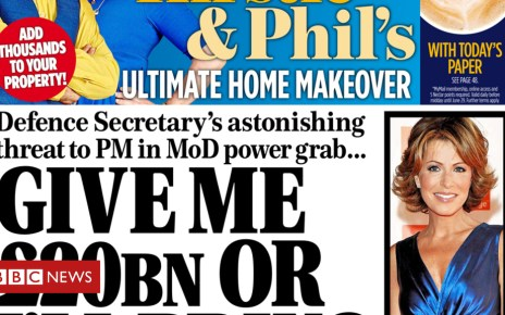 102177273 mailonsunday 1 - Newspaper headlines: 'Give me £20bn or I'll bring May down'