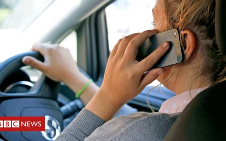 99014764 phone driving pa - Mobile phone warning road signs 'a UK first'