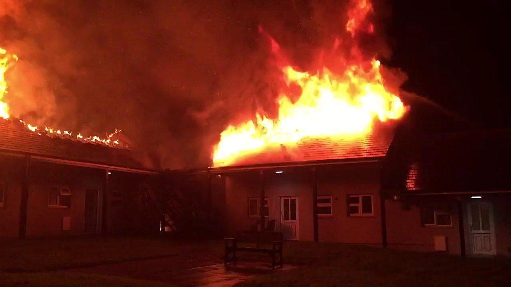 p069xq2q - Truro fire: Blaze destroys sheltered homes