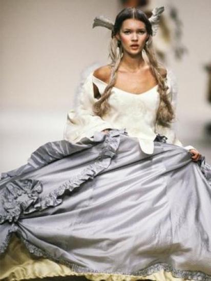 Kate Moss wearing John Galliano