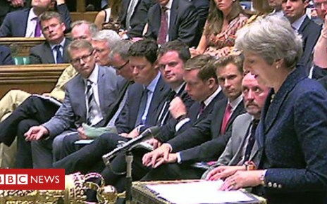 102449840 p06d98l4 - Theresa May gives Brexit statement to Commons