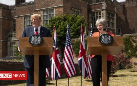102521465 p06dpj4w - Donald Trump: Key moments from Chequers