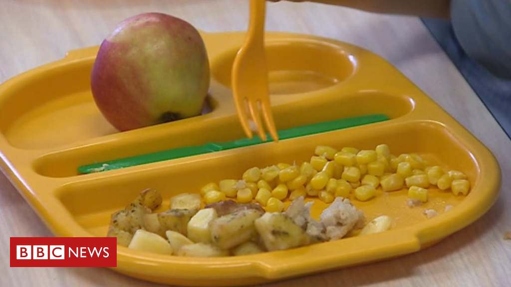 102600609 school meal bbc - Foodbanks in Wales brace for hungry children over summer