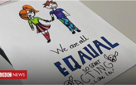 102777658 p06g720k - Gender pay gap: School pupils battle for equality