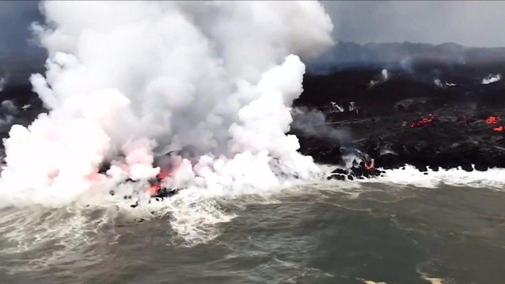 p06b4tn5 - Kilauea volcano: Flying lava injures 13 in Hawaii