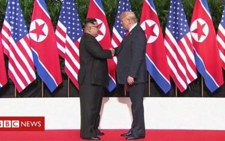 102765308 de27 - US North Korea visit: China says Trump criticism is 'irresponsible'