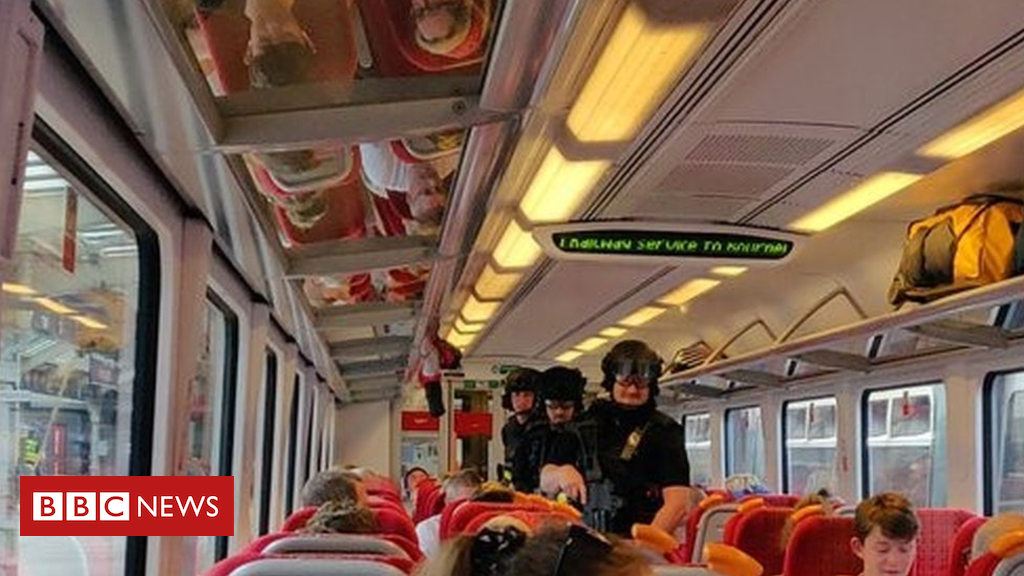 102828264 31fa7c33 4f87 42ec bba5 05377929deb9 - Armed police search train after stabbing in Weymouth